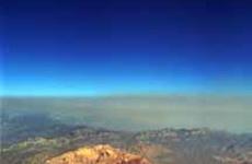 ネバダ上空の風景